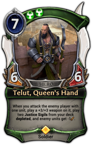 Telut, Queen's Hand card