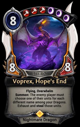 Voprex, Hope's End card