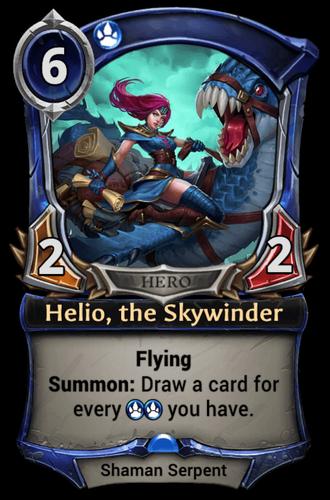 Helio, the Skywinder card