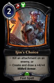 Ijin's Choice