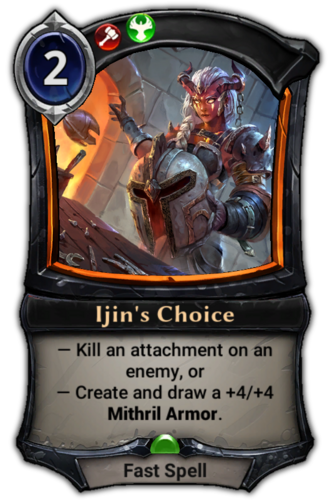 Ijin's Choice card