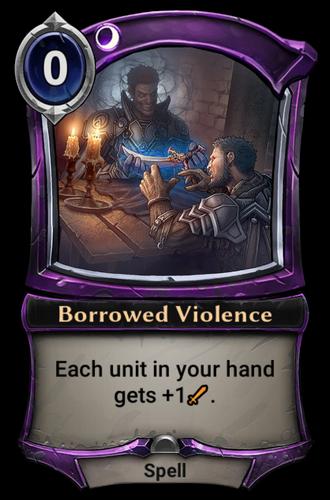 Borrowed Violence card