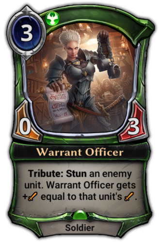 Warrant Officer card