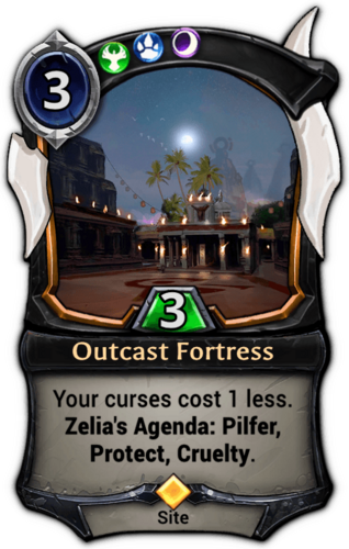 Outcast Fortress card