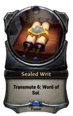 Sealed Writ