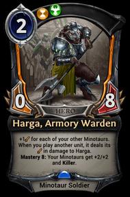 Harga, Armory Warden