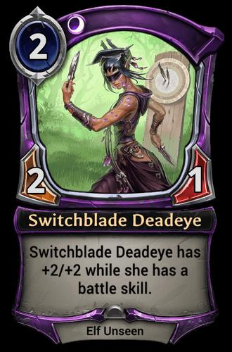 Switchblade Deadeye card