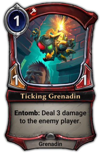 Ticking Grenadin card