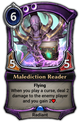 Malediction Reader card
