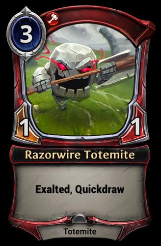 Razorwire Totemite card