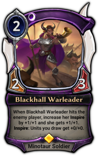 Blackhall Warleader card