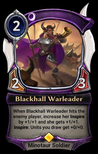 Blackhall Warleader card