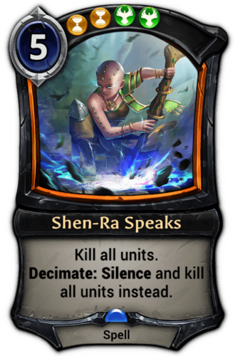 Shen-Ra Speaks card