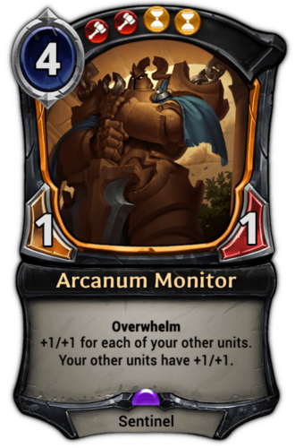 Arcanum Monitor card