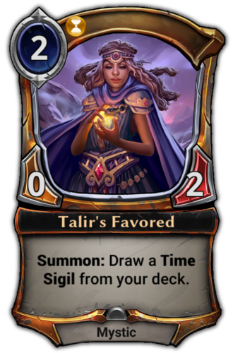 Talir's Favored card