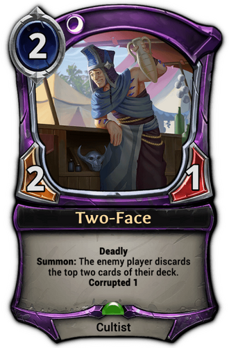 Two-Face card