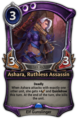Ashara, Ruthless Assassin card