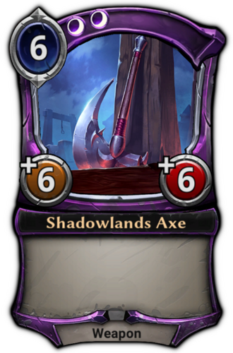 Shadowlands Axe card