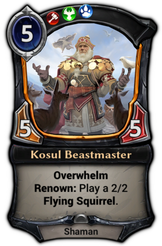 Kosul Beastmaster card