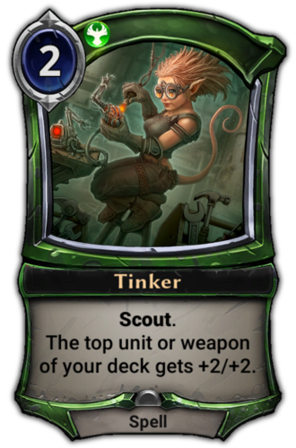 Tinker card