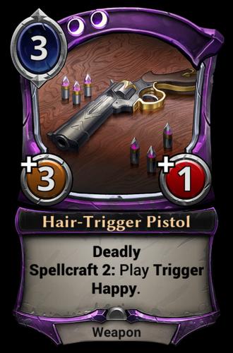 Hair-Trigger Pistol card