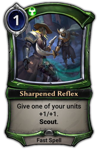Sharpened Reflex card