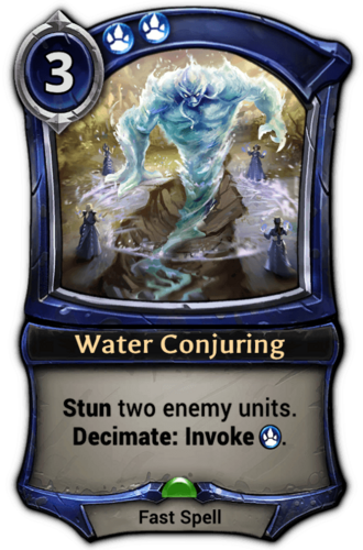 Water Conjuring card