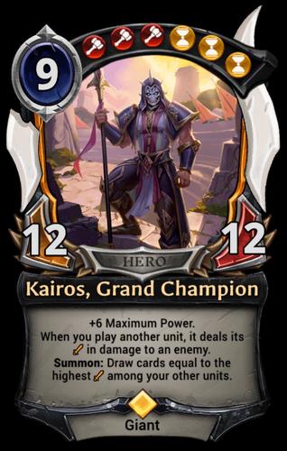 Kairos, Grand Champion card