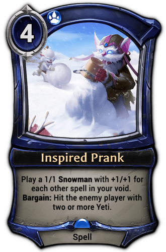 Inspired Prank card