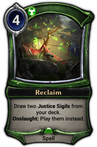 Reclaim card