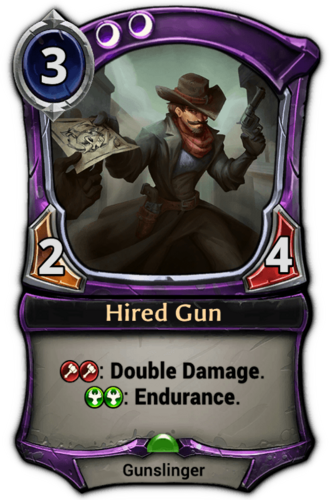 Hired Gun card