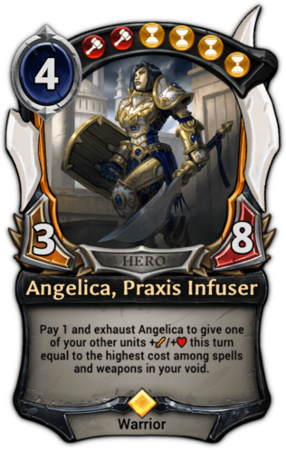 Angelica, Praxis Infuser card
