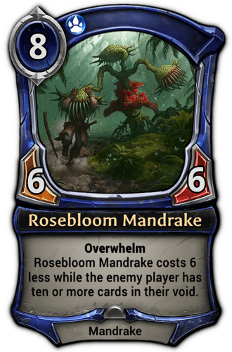 Rosebloom Mandrake card