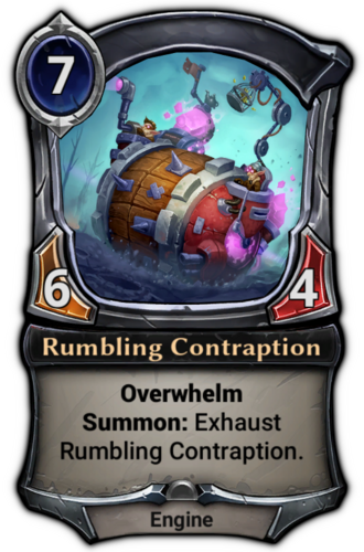 Rumbling Contraption card