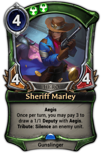 Sheriff Marley card