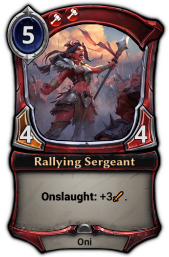Rallying Sergeant card