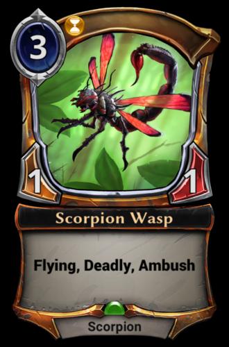 Scorpion Wasp card