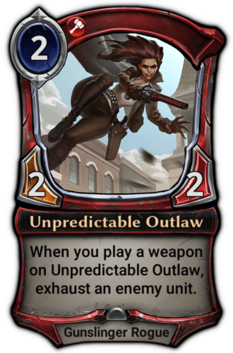 Unpredictable Outlaw card