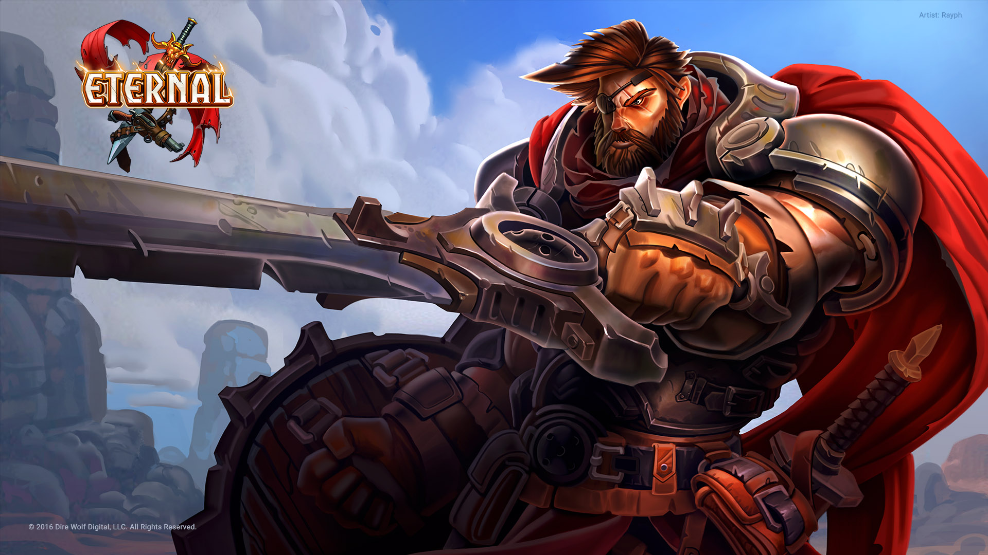 image - wallpaper - veteran mercenary | eternal card game wikia