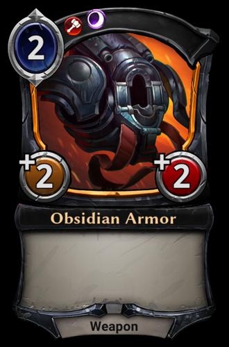 Obsidian Armor card