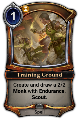 Training Ground card