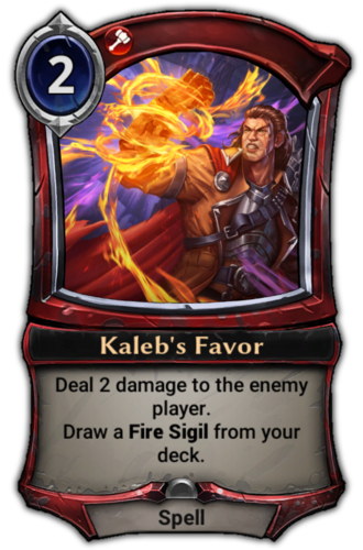 Kaleb's Favor card