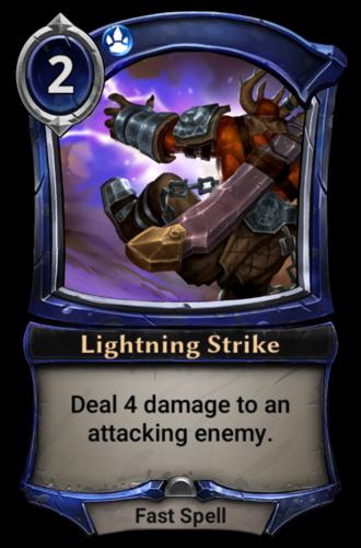 Lightning Strike card