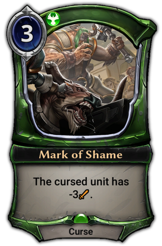 Mark of Shame card