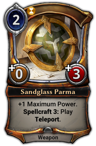 Sandglass Parma card