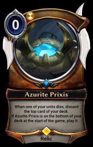 Azurite Prixis card