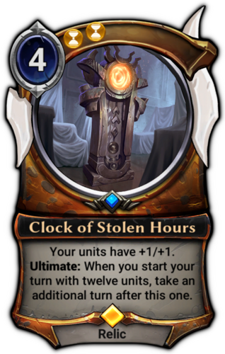 Clock of Stolen Hours card