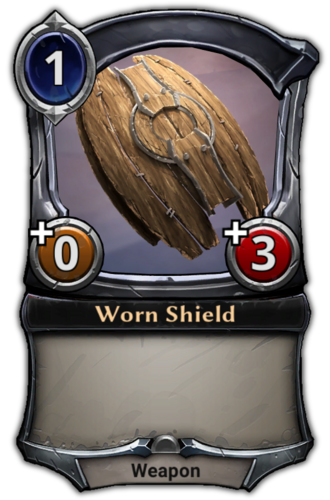Worn Shield card