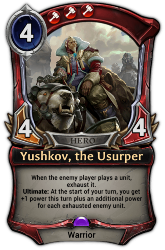 Yushkov, the Usurper card