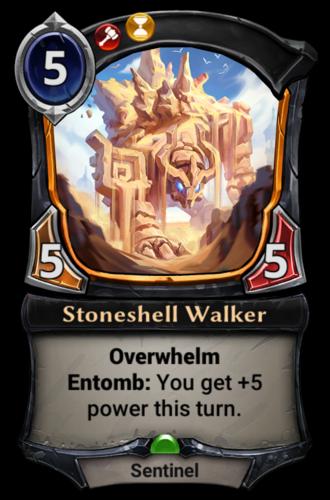 Stoneshell Walker card